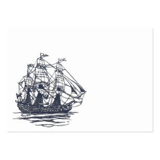 Tarjeta de visita náutica de la nave