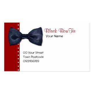 Tarjeta de visita negra de BowTie