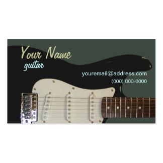 Tarjeta de visita negra de la guitarra eléctrica
