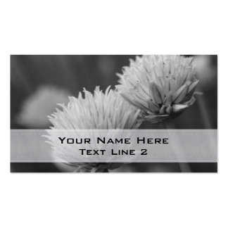 Tarjeta de visita negra de los pares de la flor bl