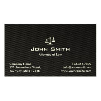 Tarjeta de visita negra del abogado del abogado de