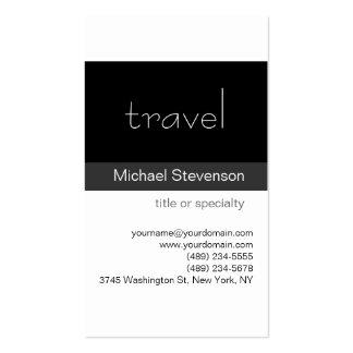 Tarjeta de visita negra del agente de viajes del