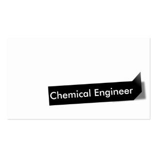 Tarjeta de visita negra del ingeniero químico de l