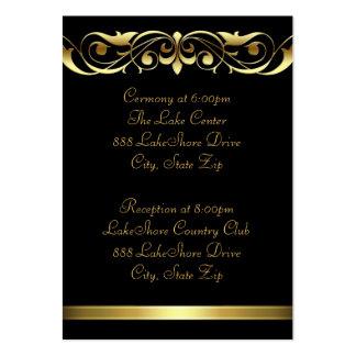 Tarjeta de visita negra del oro de la grande duque