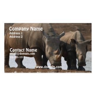 Tarjeta de visita negra del rinoceronte