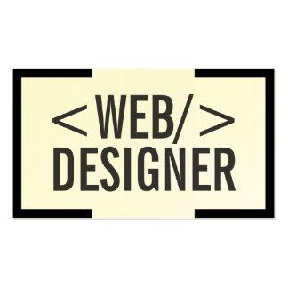 Tarjeta de visita negra intrépida del diseño web d