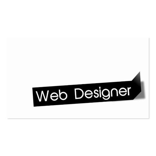 Tarjeta de visita negra moderna del diseñador del