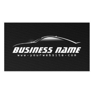 Tarjeta de visita negra profesional del coche de l