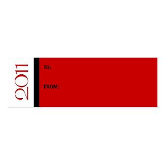 Tarjeta de visita negra roja de la etiqueta del re
