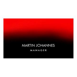 Tarjeta de visita negra roja elegante llana