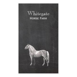 Tarjeta de visita negra rústica ecuestre del cabal