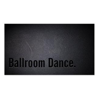 Tarjeta de visita negra simple de la danza de saló