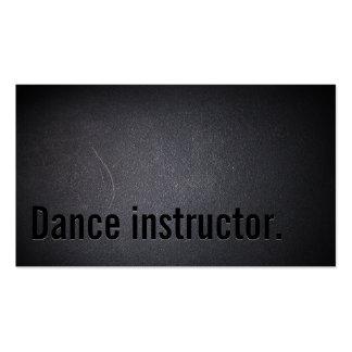 Tarjeta de visita negra simple del instructor de l