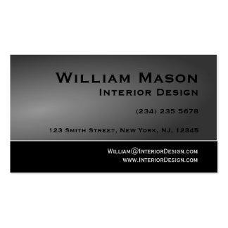 Tarjeta de visita negra y gris del diseño simple