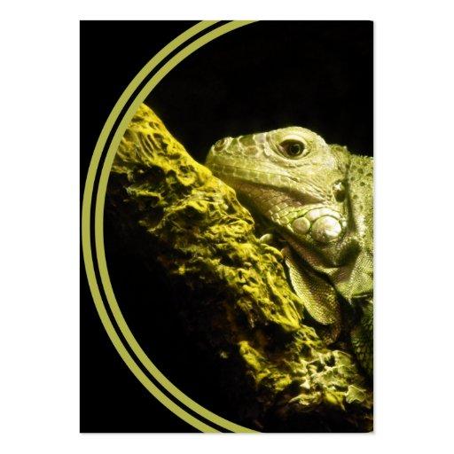 Tarjeta de visita noble de la iguana