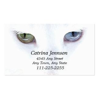 Tarjeta de visita observada impar del gato