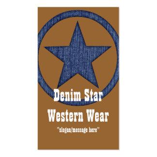 Tarjeta de visita occidental del país Estrella D