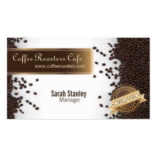 Tarjeta de visita orgánica de restaurante del café