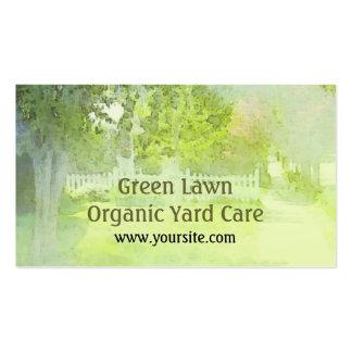Tarjeta de visita orgánica del cuidado de la yarda