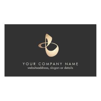 Tarjeta de visita orgánica del logotipo de la form