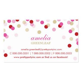 TARJETA DE VISITA:: oro rosado rojo del confeti el