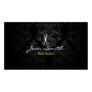 Tarjeta de visita oscura elegante del estilista