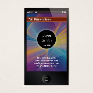 tarjeta de visita oscura idéntica del iPhone