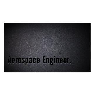 Tarjeta de visita oscura profesional del ingeniero
