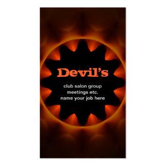 tarjeta de visita oscura