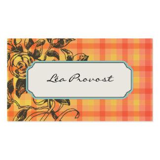 Tarjeta de visita Paper Floral