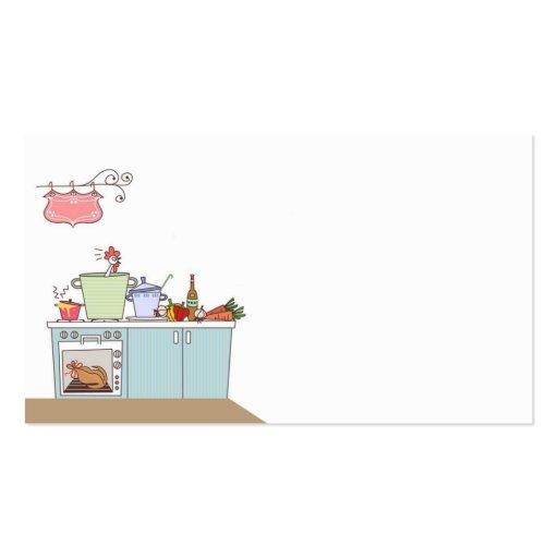 tarjeta de visita para el cocinero o el cocinero