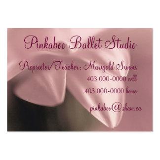 Tarjeta de visita para el estudio del ballet o de