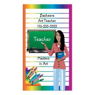 Tarjeta de visita para el profesor, el profesor o