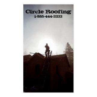 Tarjeta de visita para el Roofer/la construcción