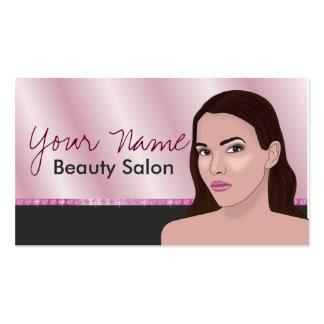 Tarjeta de visita para el salón de belleza