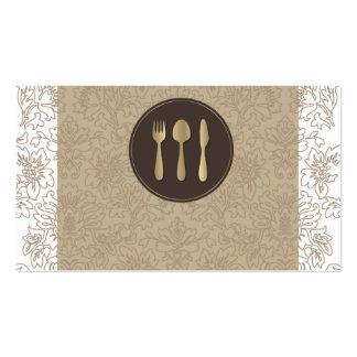 tarjeta de visita para el servicio y la comida del