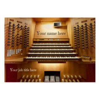 Tarjeta de visita para los músicos de la iglesia -