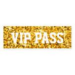 """Tarjeta de visita PASO del VIP"""" del """"oro"""" del Glit"""