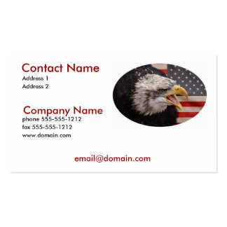 Tarjeta de visita patriótica de Eagle