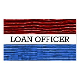 Tarjeta de visita patriótica del oficial de présta