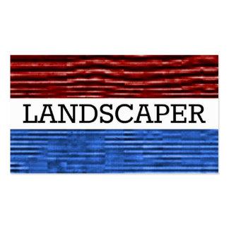 Tarjeta de visita patriótica del paisajista