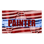 Tarjeta de visita patriótica del pintor