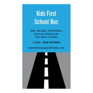 Tarjeta de visita pavimentada del autobús escolar