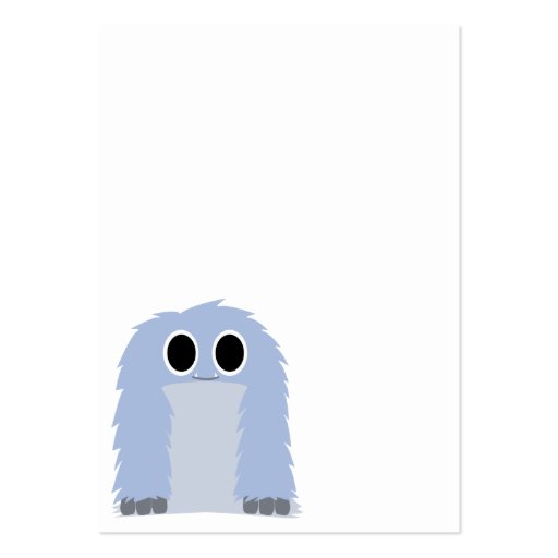 Tarjeta de visita peluda azul del monstruo