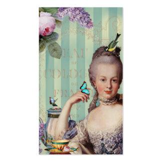 Tarjeta de visita pequena de Trianon del au de Thé