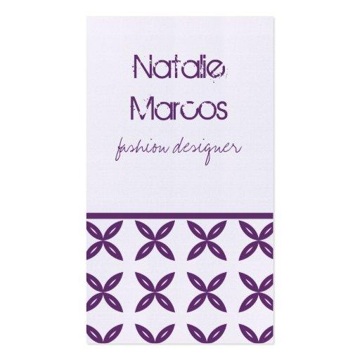 Tarjeta de visita perfectamente de moda, violeta