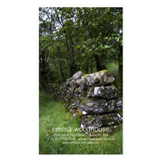 Tarjeta de visita personal de la pared Drystone
