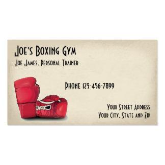 Tarjeta de visita personal del gimnasio del boxead