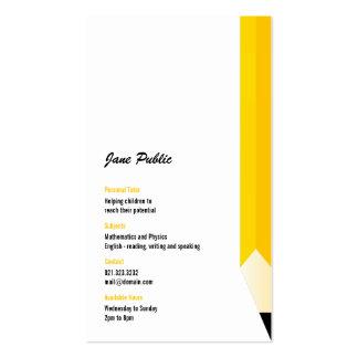 Tarjeta de visita personal del lápiz del profesor