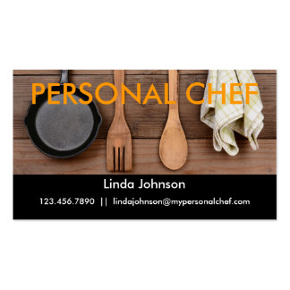 Tarjeta de visita personal elegante del cocinero